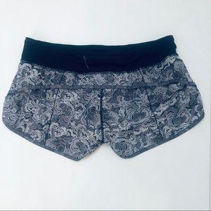 lululemon athletica Shorts - RARE Lululemon Florence Lace Print Speed Shorts